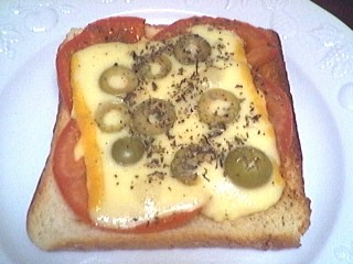 Cuisine diététique : Assiette de tartine à l'italienne