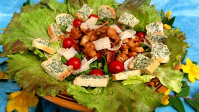 Image : Salade aux blancs de poulet