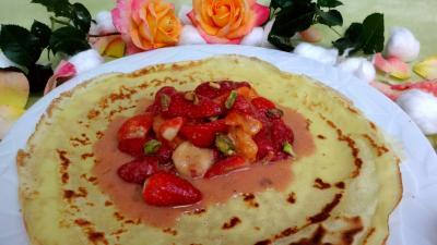 fraise : Crêpes aux fraises