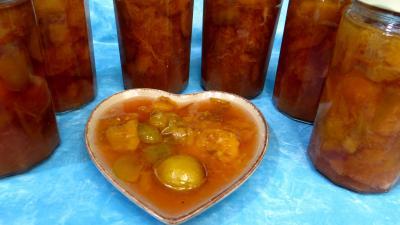 Conserves : Compote de prunes à la sangria
