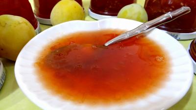 verveine : Confiture de prunes au tilleul