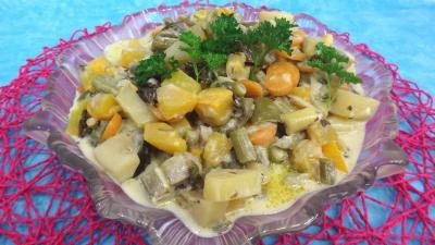 Recettes sans oeufs : Plat de sauté de potimarron et légumes