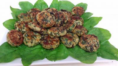Assiette de boulettes de légumes