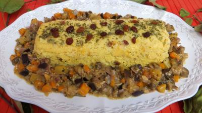 polenta : Plat de polenta aux légumes