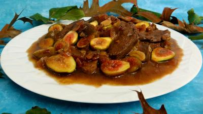 sauce soja : Sauté de canard aux figues
