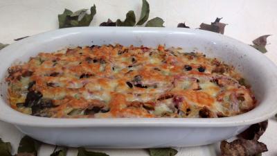 Légumes : Plat de poireaux gratinés au four