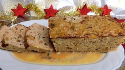 Image : Assiette de pain de boeuf et dinde