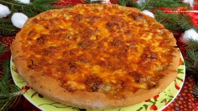 huile de tournesol : Pizza à l'agneau