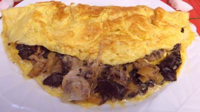 Image : Omelette farcie aux champignons