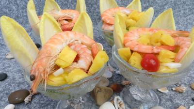 Coquillages et crustacés : Cocktail de gambas
