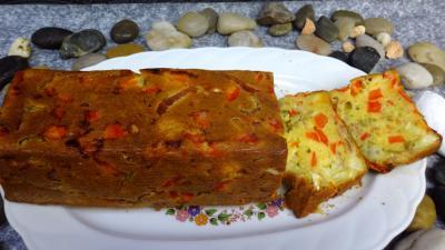 roquefort : Plat de cake au poivron