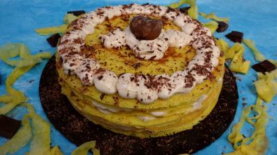 Image : recette Gâteau de crêpes à la crème de marron