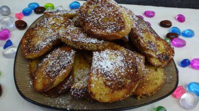pain : Assiette de pains perdus sucrés