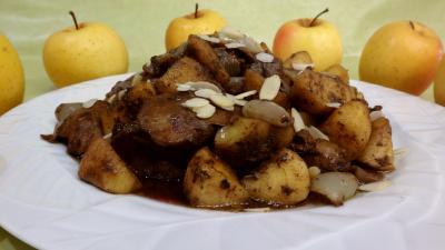 Image : Foies de volaille aux pommes