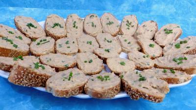 Recette Tartines de mousse de crabes