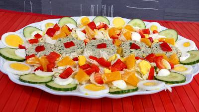 câpre : Reste de perche en salade