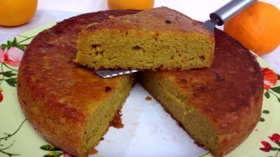 Recette Part de gâteau à l'orange