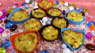 gâteau salé : Petits gâteaux de légumes de poireaux et pommes de terre