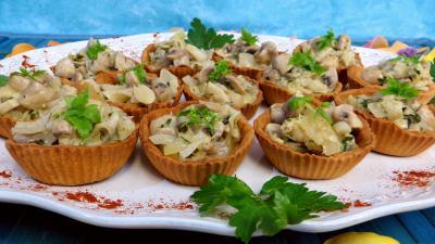 Image : Bouchées aux champignons