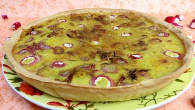 radis : Tarte aux fromages frais et radis