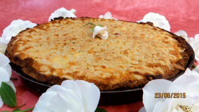 tarte : Tarte aux fraises et streusel