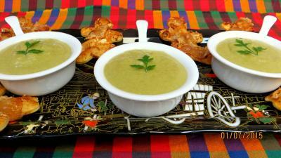 Crème vanillée de haricots verts