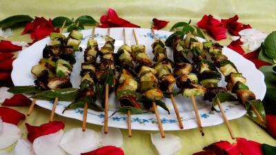 Cuisine diététique : Brochettes de légumes à la plancha