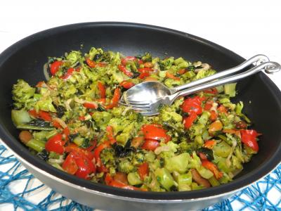 Cuisine diététique : Sauteuse de brocolis à l'ail