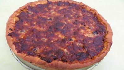 pizza au fromage : Pizza au magret et coeurs de canard
