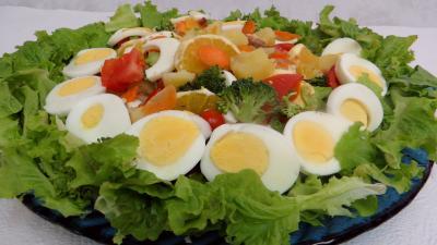 Entrées & salades : Plat de salade batavia