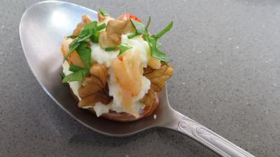 Abricot sec : Cuillère d'abruicot sec au mascarpone