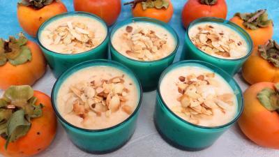 yaourt aux fruits : Ramequins de kakis au yaourt