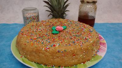 Desserts : Gâteau de riz aux ananas