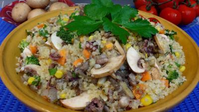 Cuisine diététique : Plat de boulgour à la menthe et au persil