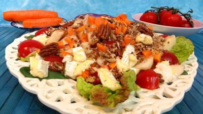Image : Salade de brie et poires
