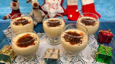 Desserts : Verrines de kakis au fromage blanc et à l'amaretto