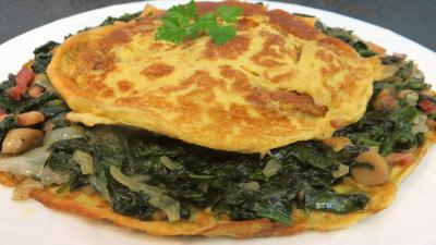 muscade : Assiette d'omelette aux épinards