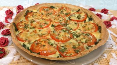 cantal : Tarte fine au Cantal