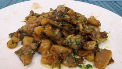 Image : Assiette de pleurotes à l'ail et au persil