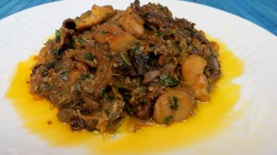 Cuisine diététique : Assiette de cèpes à la bordelaise