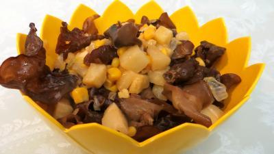 sauce soja : Champignons noirs à l'ail