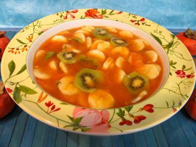 dessert : Soupe de kakis aux fruits