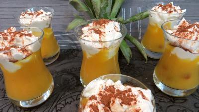 Desserts : Verrines d'ananas à la crème