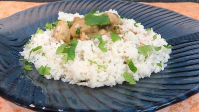 Volailles et gibiers : Assiette de blanquette de dinde au lait de coco