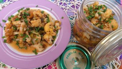 noix de cajou : assiette de chou-fleur façon grecque