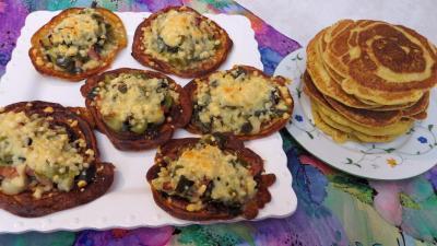 Légumes : Assiette de blinis aux poireaux
