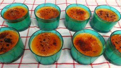cassonade : Crèmes brûlées au sirop d'érable