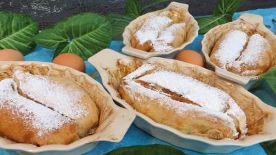 fruits confits : Cassolettes de pannequets aux fruits confits