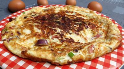 paprika : Omelette de blancs d'oeuf au jambon