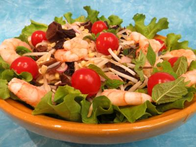 sucre : Salade chinoise aux radis roses